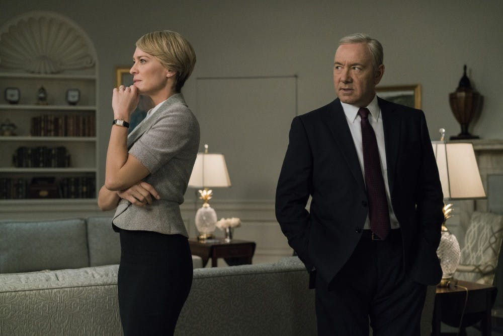 """Kevin Spacey and Robin Wright in """"House of Cards,"""" which will be ending with its upcoming sixth season. (Netflix)"""
