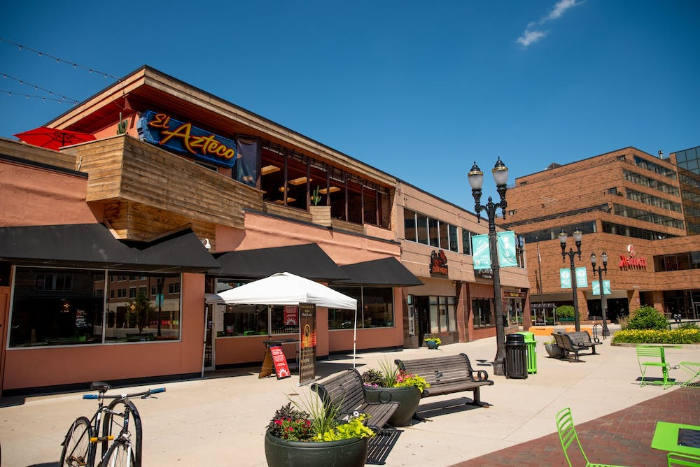 El Azteco is pictured in downtown East Lansing June 30, 2020.
