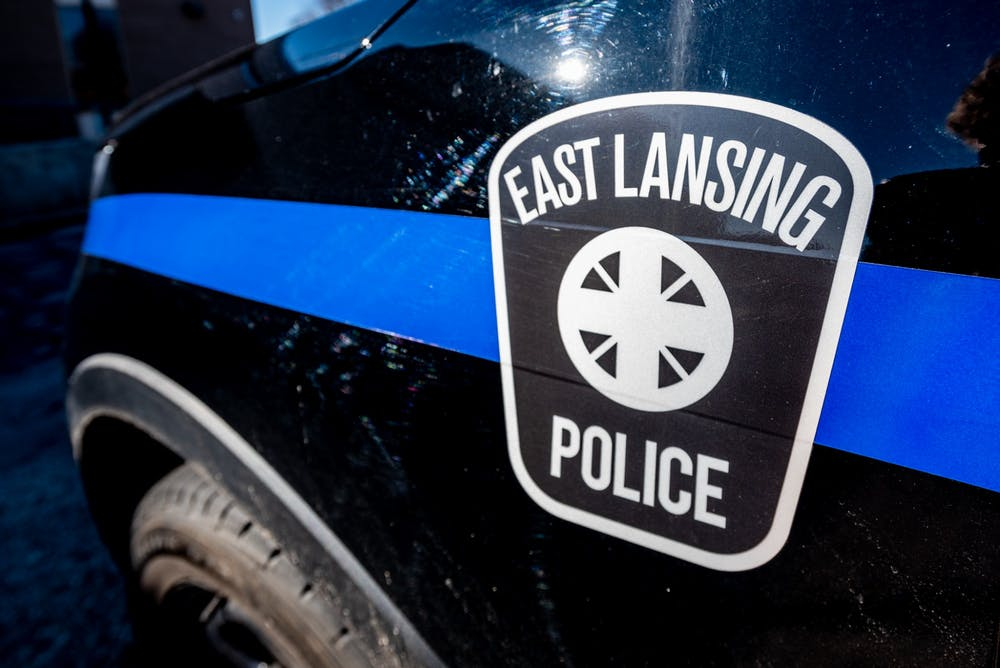 <p>An East Lansing police car photographed on March 10, 2020. </p>