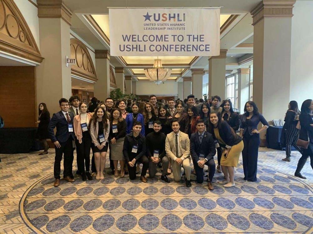 CRU E-board with general body members at USHLI Conference in Feb. 2020. Photo courtesy of Alondra Alvarez.