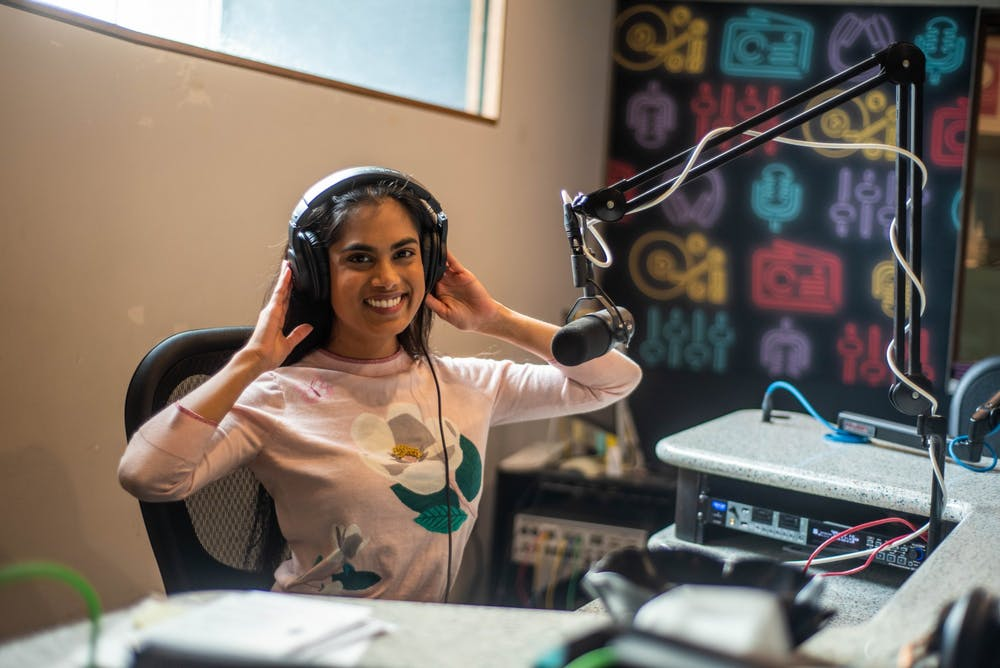Chelsie Boodoo poses for a portrait in the Impact Radio Studio on Feb. 5, 2020.