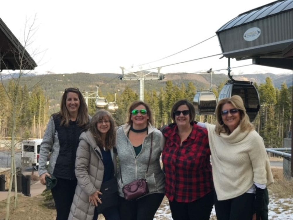 <p>From left: Starr, Roseanne, Sampe, Wilcox and Noble in Colarado during November 2019 in Colorado. They were there to watch the Spartans play at an event sponsored by the Denver MSU Alumni club. Photo courtesy of Beth Noble. </p>