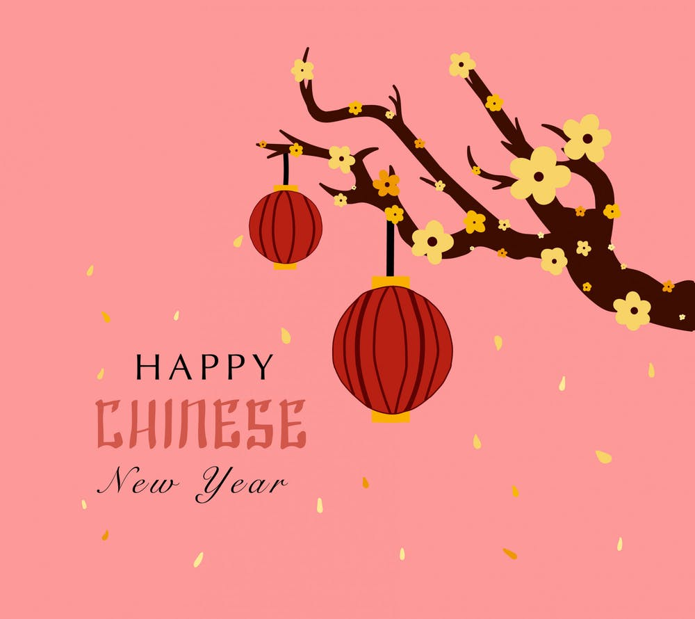 Chinese New Year art by Maddie Monroe