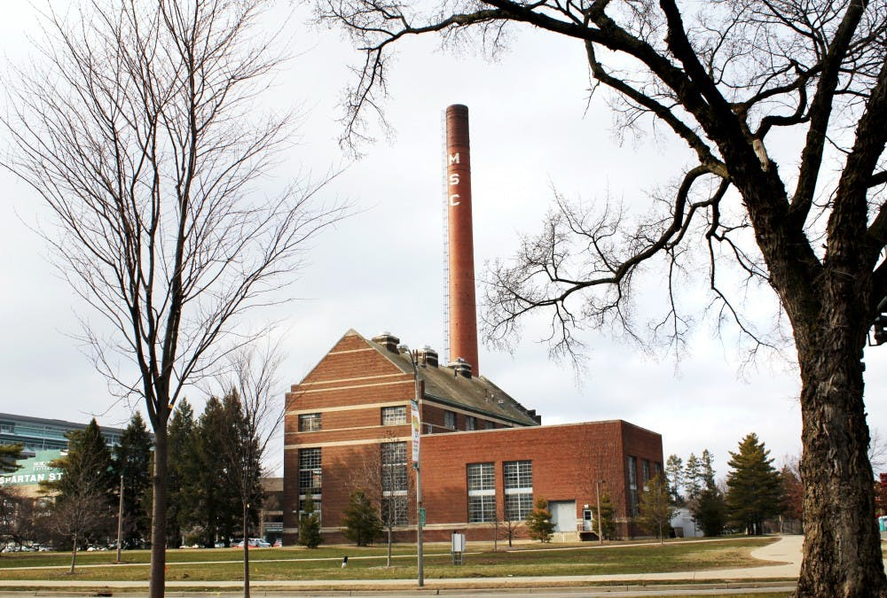 MSU administrators have decided to carry out the plan to dismantle the MSC smokestack located on Shaw Lane. The white bricks that make up the MSC letters will be preserved to commemorate the monumental structure. Kelsie Thompson/The State News