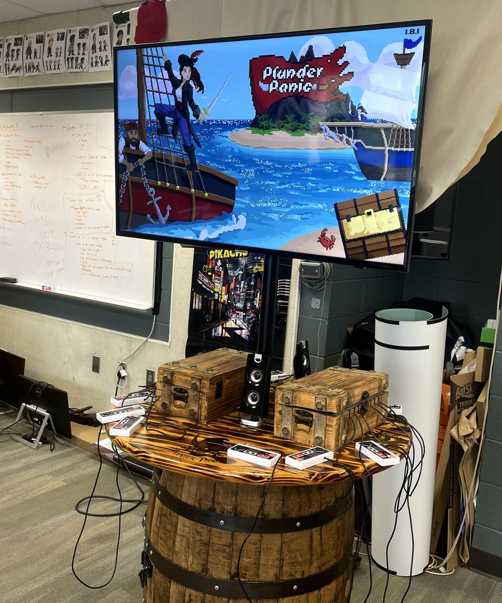 <p>The arcade version of Plunder Panic, located within the game design and development studio in the Communications Arts and Sciences Building, was photographed on July 8, 2021.</p>