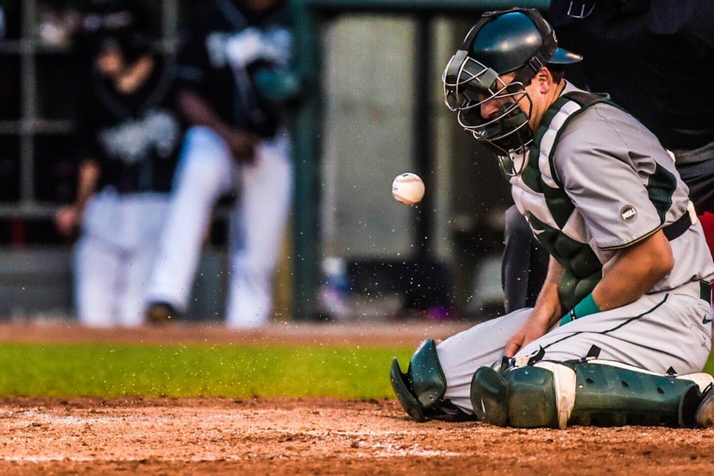 <p>Scenes from the Michigan State University baseball team taking on the Lansing Lugnuts on Sept. 5, 2017 at Cooley Law School Stadium in Lansing. The Spartans were defeated by the Lugnuts, 5-1.&nbsp;</p>