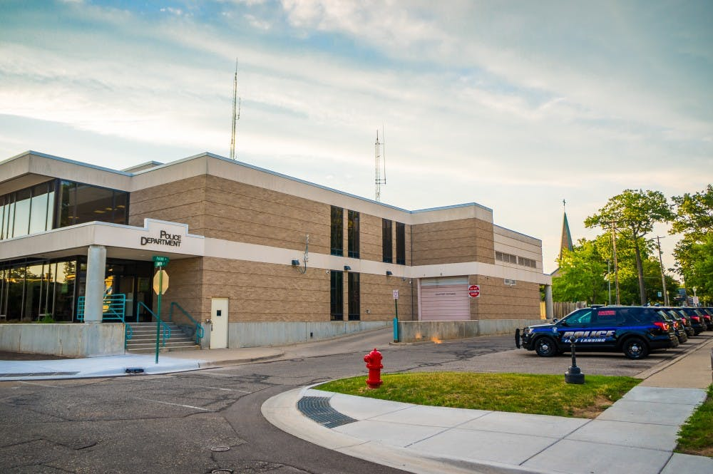 The East Lansing Police Department is pictured on July 6th, 2017.
