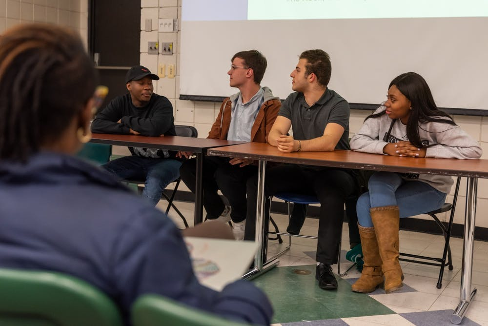 MSU students discuss their experiences as first-generation college students at South Kedzie Hall on November 6, 2019 as a part of ASMSU's First Generation Appreciation Week.