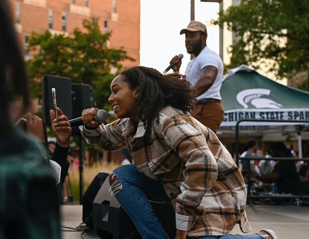 <p>In-between performances, the Spartan Remix planning committee conducted games and even held a lip sync battle to Chance the Rapper&#x27;s &quot;No Problem&quot; on Sept. 9, 2021. </p>