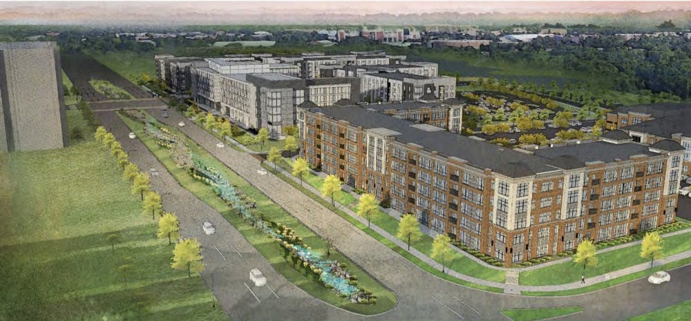 <p>A rendering of the planned Red Cedar development project. <strong>COURTESY OF CONTINENTAL/FERGUSON LLC.</strong></p>