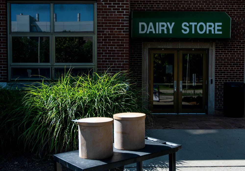 The MSU Dairy Store on its last day of walk-up operation on Sept. 11, 2020.