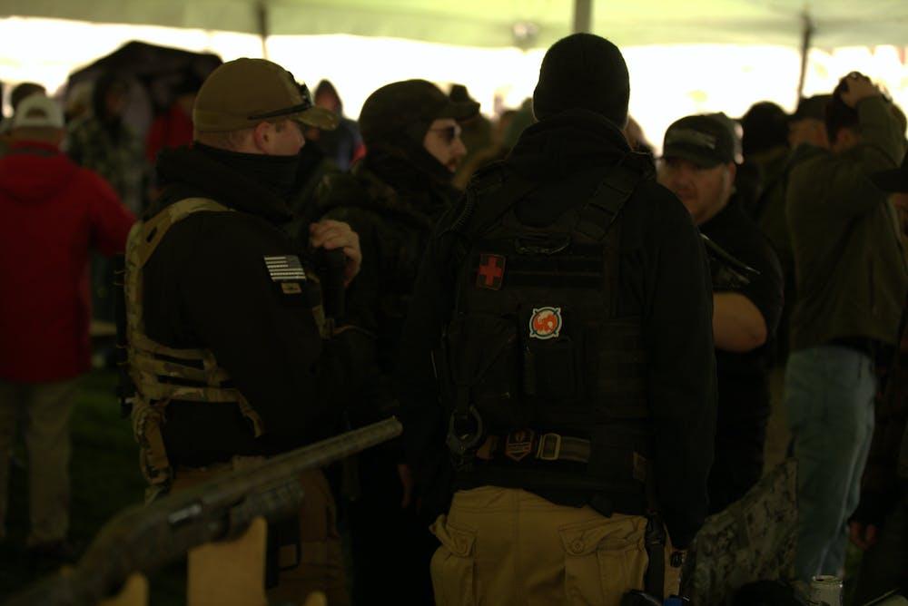 <p>Pro-gun advocates gather for the annual Second Amendment march on Sept. 23 at the Michigan Capitol. </p>