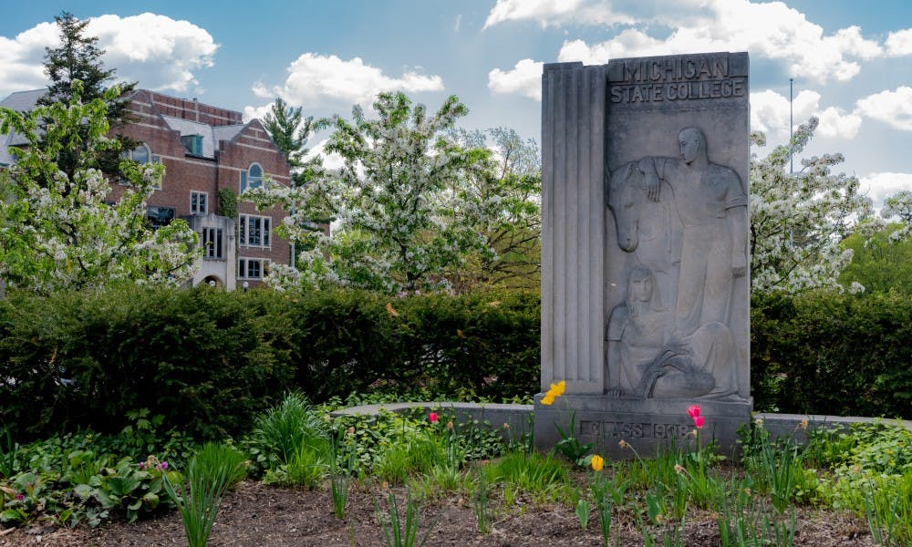<p>The Abbot Road entrance to MSU photographed on May 15, 2019.</p>