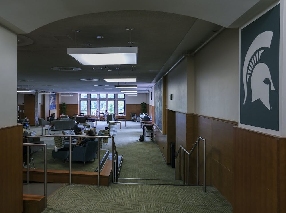 The inside of the MSU Union Building on September 15, 2020.