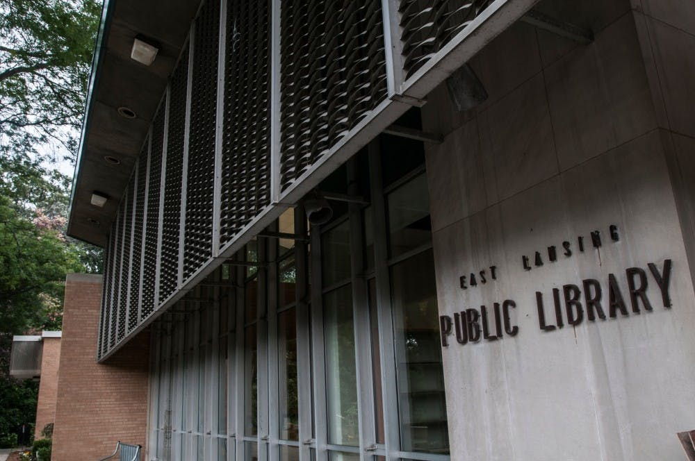 <p>The East Lansing Public Library, pictured here Sept. 27, 2016</p>