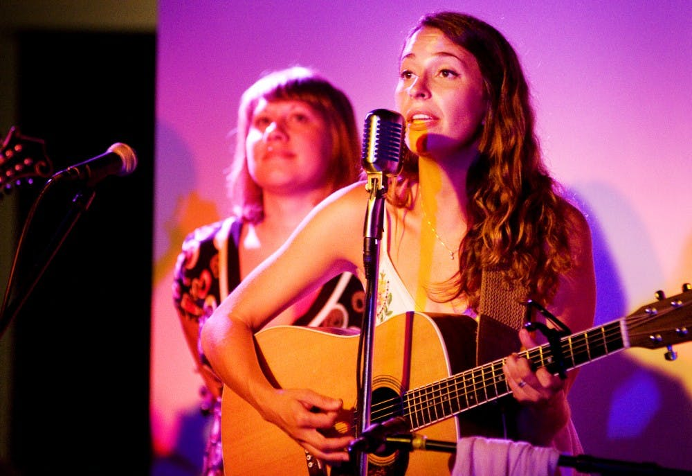 """<p>Singer Lindsay Lou performs with her band, The Flatbellys, with a guest appearance by headliner Jen Sygit on Friday night at (<span class=""""caps"""">SCENE</span>) Metrospace, 110 Charles St. </p>"""