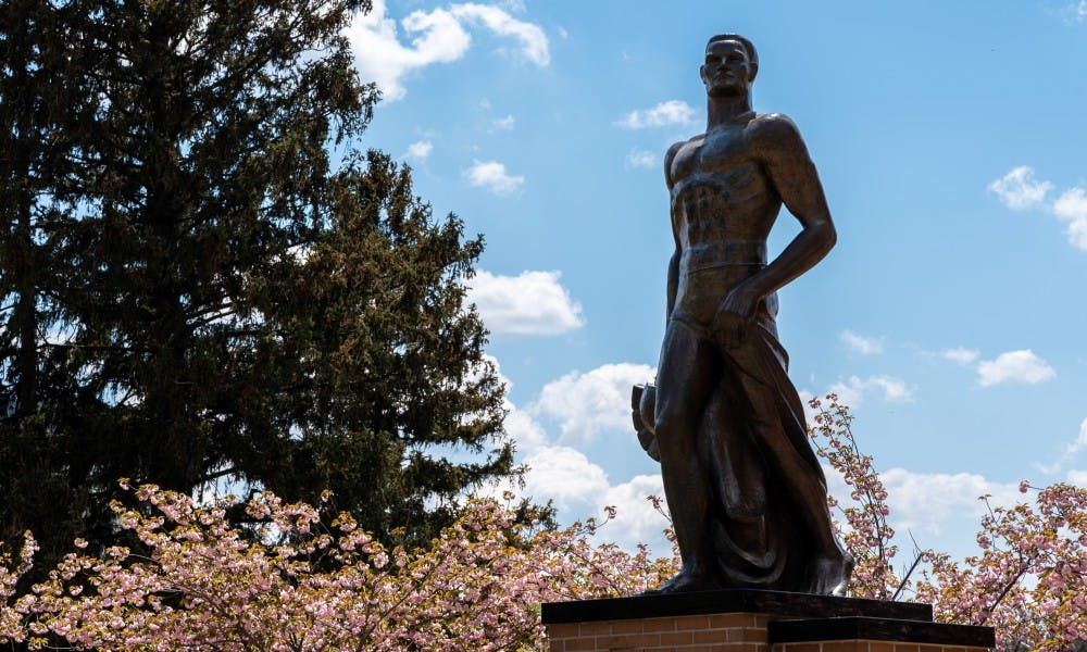 <p>The Spartan Statue photographed on May 15, 2019</p>