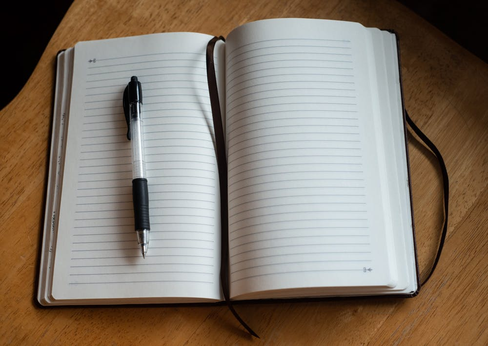 A journal photographed during the coronavirus quarantine on March 24, 2020.