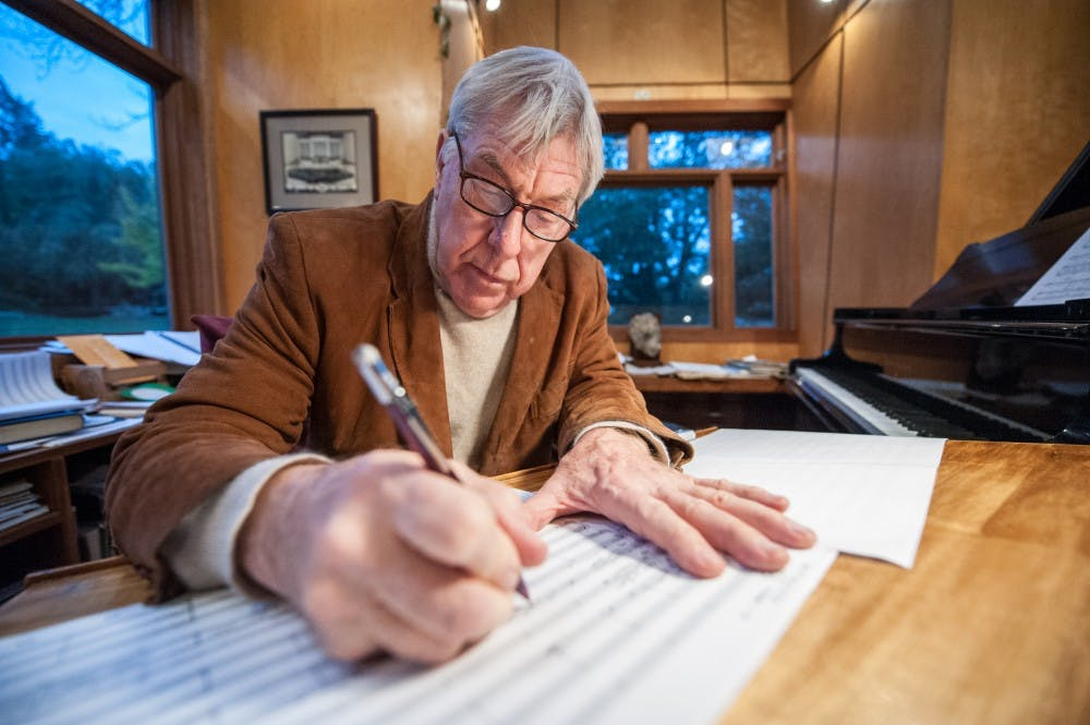 <p>William Brohn writing on a piece of paper in New Haven, Connecticut on November 6, 2010. Photo courtesy of Kurt Stepnitz.</p>
