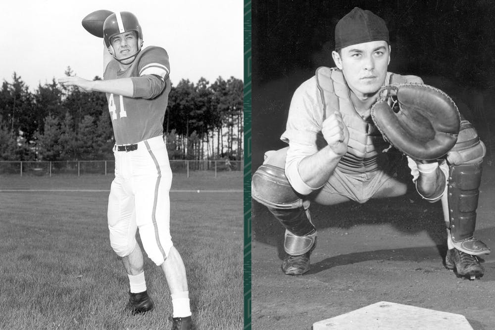 Tom Yewcic is the only Spartan to win a Rose Bowl and be named the College World Series Most Valuable Player in the same year. Photo Courtesy of MSU Athletic Communications.