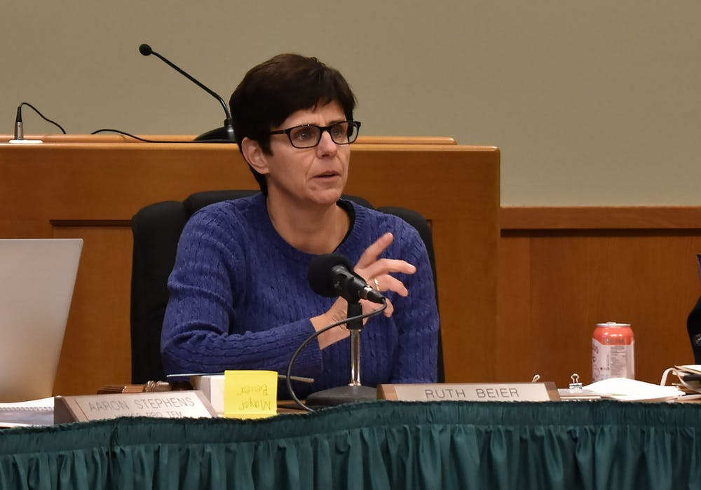 Newly elected Mayor Ruth Beier answers questions from the public at a Q&A hosted at 54B District Court on Dec. 3, 2019.