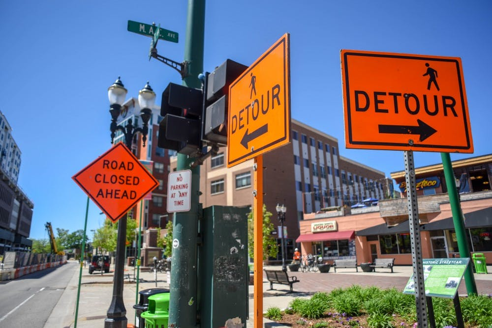 <p>Construction on the corner of M.A.C and Albert Avenues on May 23, 2019.</p>