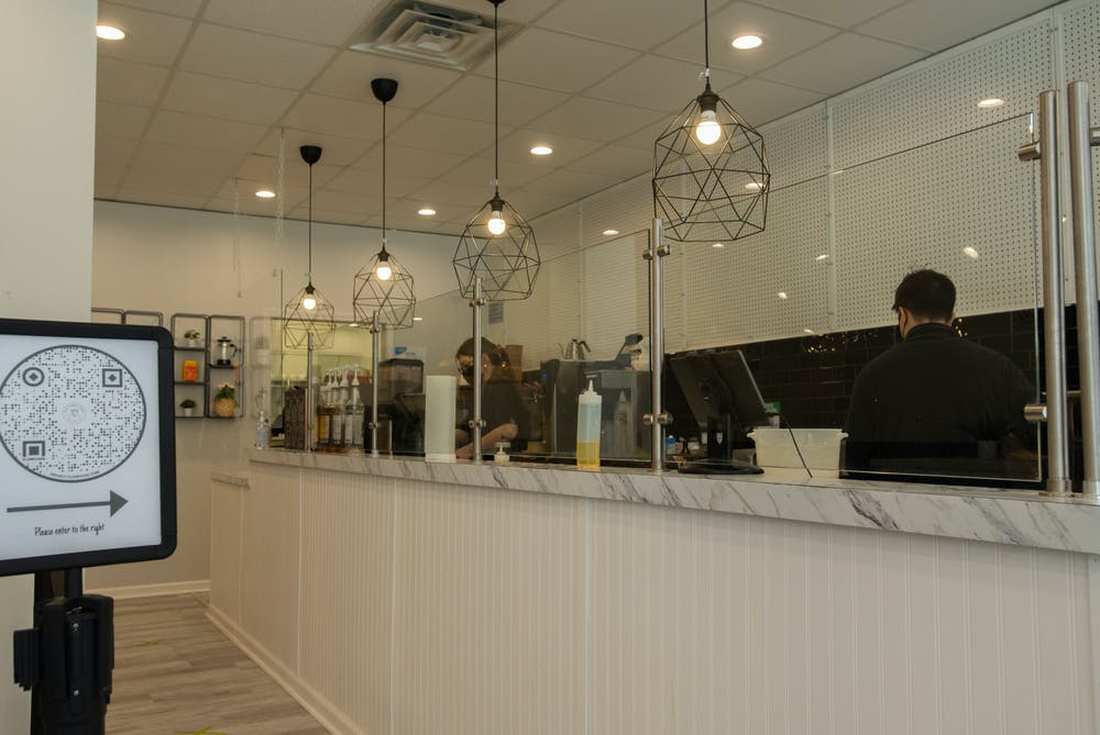 <p>The inside of For Crêpe Sake&#x27;s new location on Grand River and M.A.C Avenues on March 21, 2021.</p>