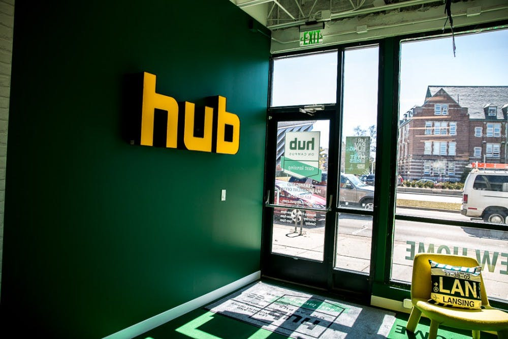 The interior of The Hub is pictured on March 25, 2019, in East Lansing.