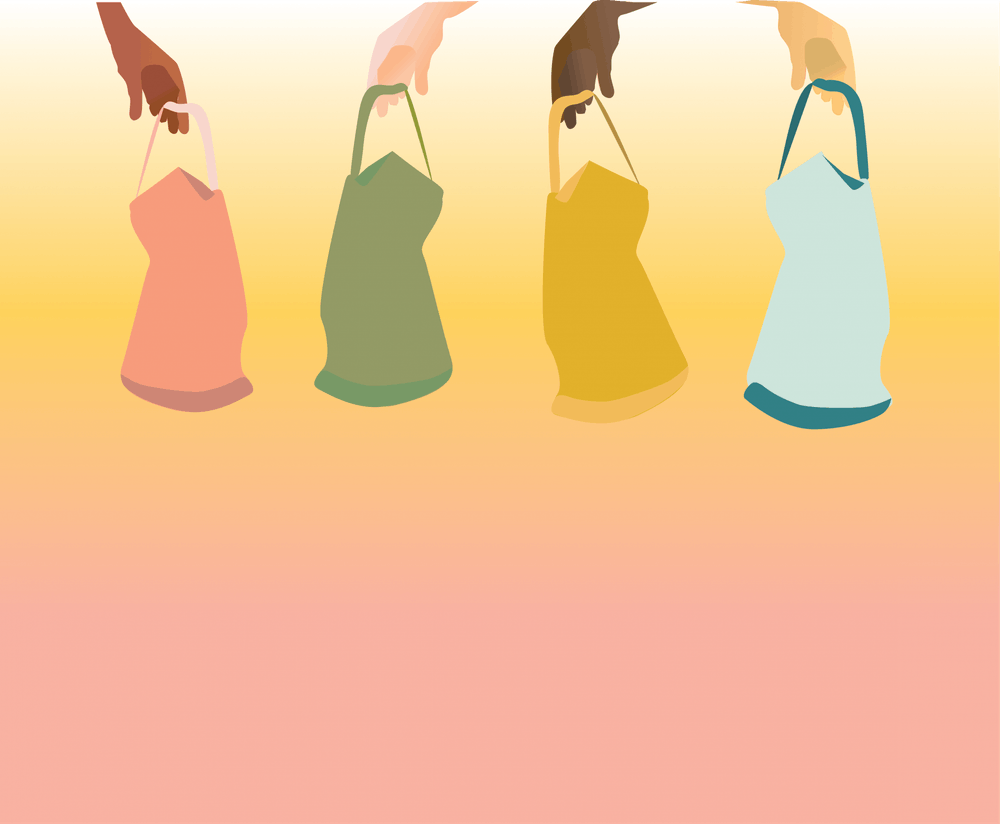 <p>Shopping bags graphic by Hope Ann Flores.</p>