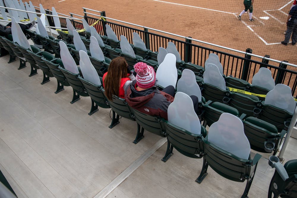 Rutger's fans at the game on Saturday, Mar. 27, 2021 in East Lansing at Secchia Stadium.
