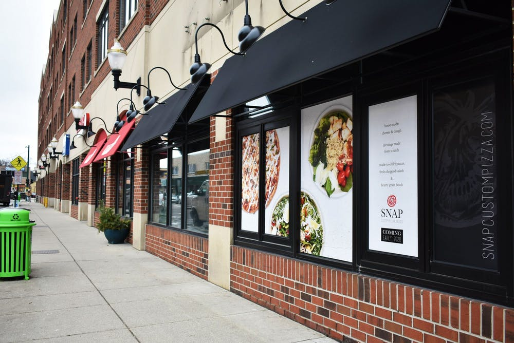 <p>Snap Pizza located on the corner of M.A.C and Grand River Avenues on Jan. 27, 2020. </p>