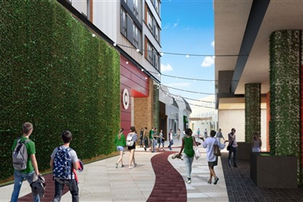 Updated renderings for the Center City District project.