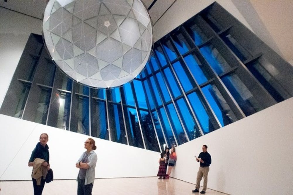 <p>The Eli and Edythe Broad Art Museum opened to the public on Sunday, Nov.11, 2012. Photo by The State News</p>
