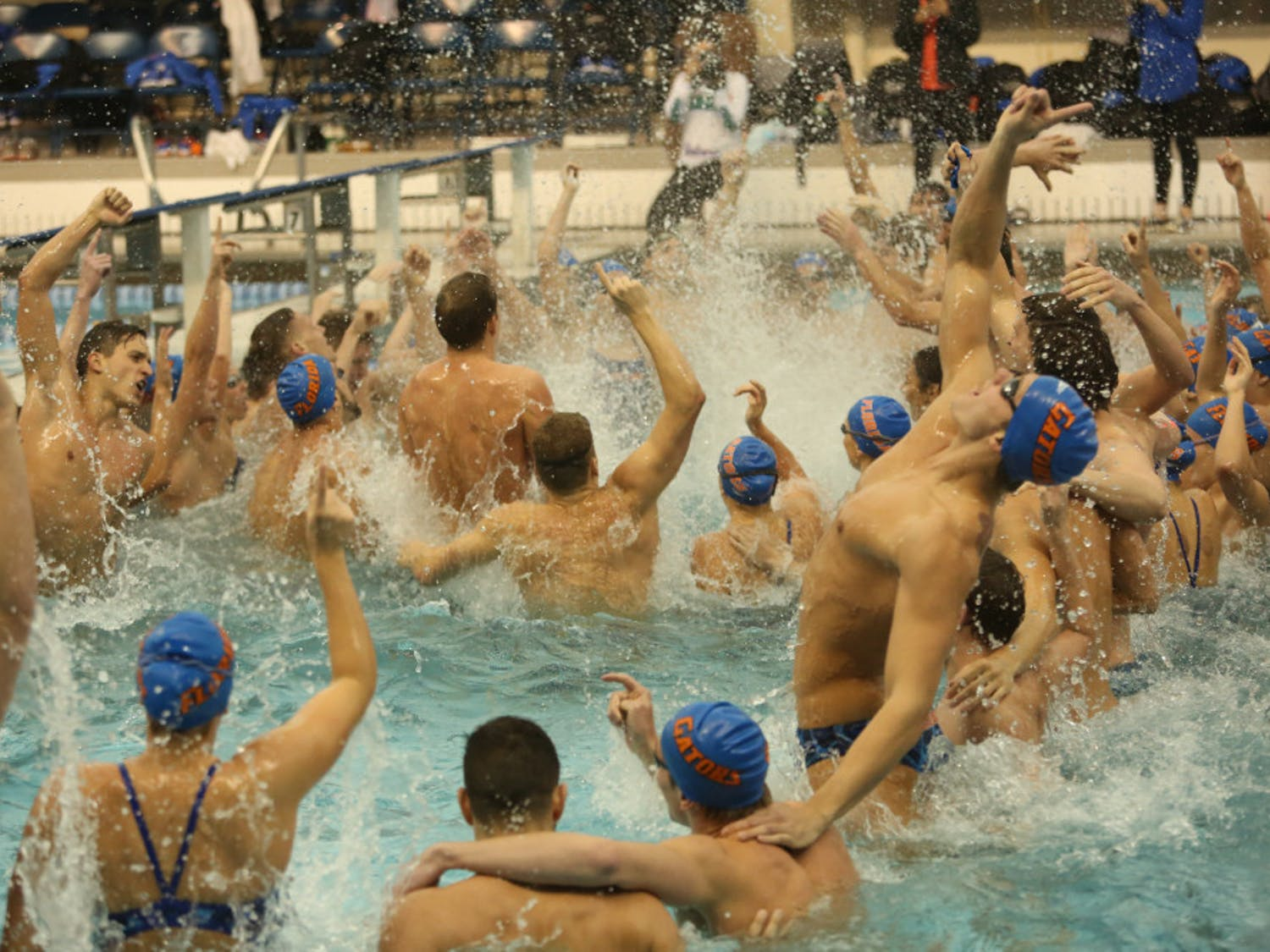 The Gators men's and women's swimming and diving teams begin SEC play against LSU in Baton Rouge, Louisiana, today. The meet was postponed due to Hurricane Michael.