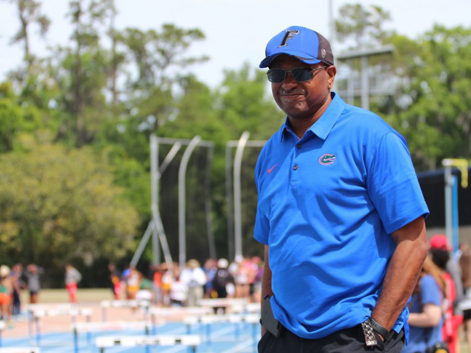 Florida head coach Mike Holloway. The Gators men's and women's track and field teams competed in both Jacksonville and Baton Rouge this week but only had one athlete win an event.