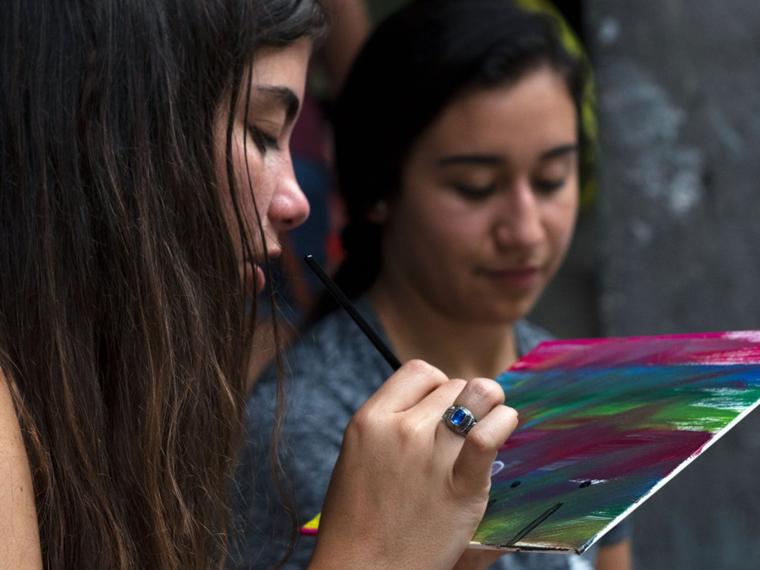 "UF Hispanic Heritage Month hosted their annual Art Fest in the architecture courtyard on Tuesday evening. The overall theme of the event was ""The Streets of Old San Juan,"" which featured activities and art pieces inspired by the art, cultureand landscape of Puerto Rico. The event aimed to promote ""La Pasión por el arte,"" or ""passion for the arts."" The event exhibited art and performances inspired by Hispanic-Latinx culture and heritage, food catered by Mi Apá Latin Café and artistic activities such as painting and DIY flower crowns."