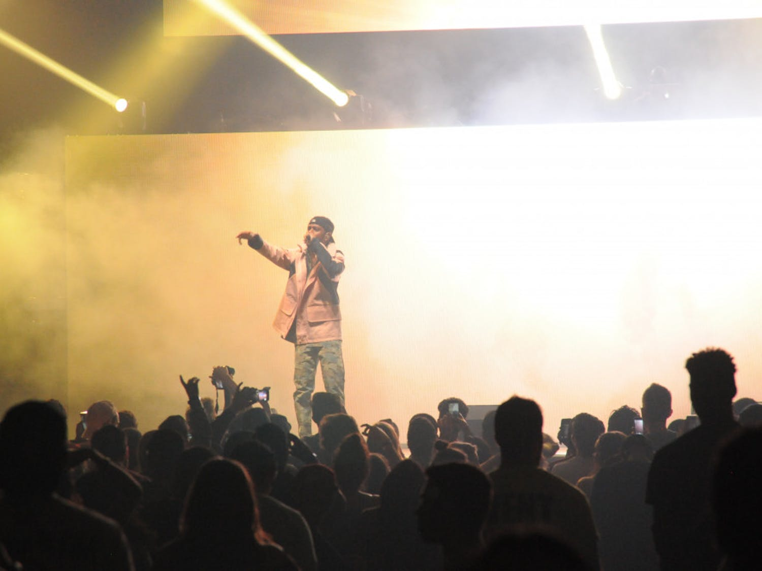 At the Big Sean and Lil Yachty concert, hosted by Student Government Productions and the Black Student Union, security and staff struggled to contain the crowd.About 6,000 people, packed into the O'Connell Center on Wednesday night.