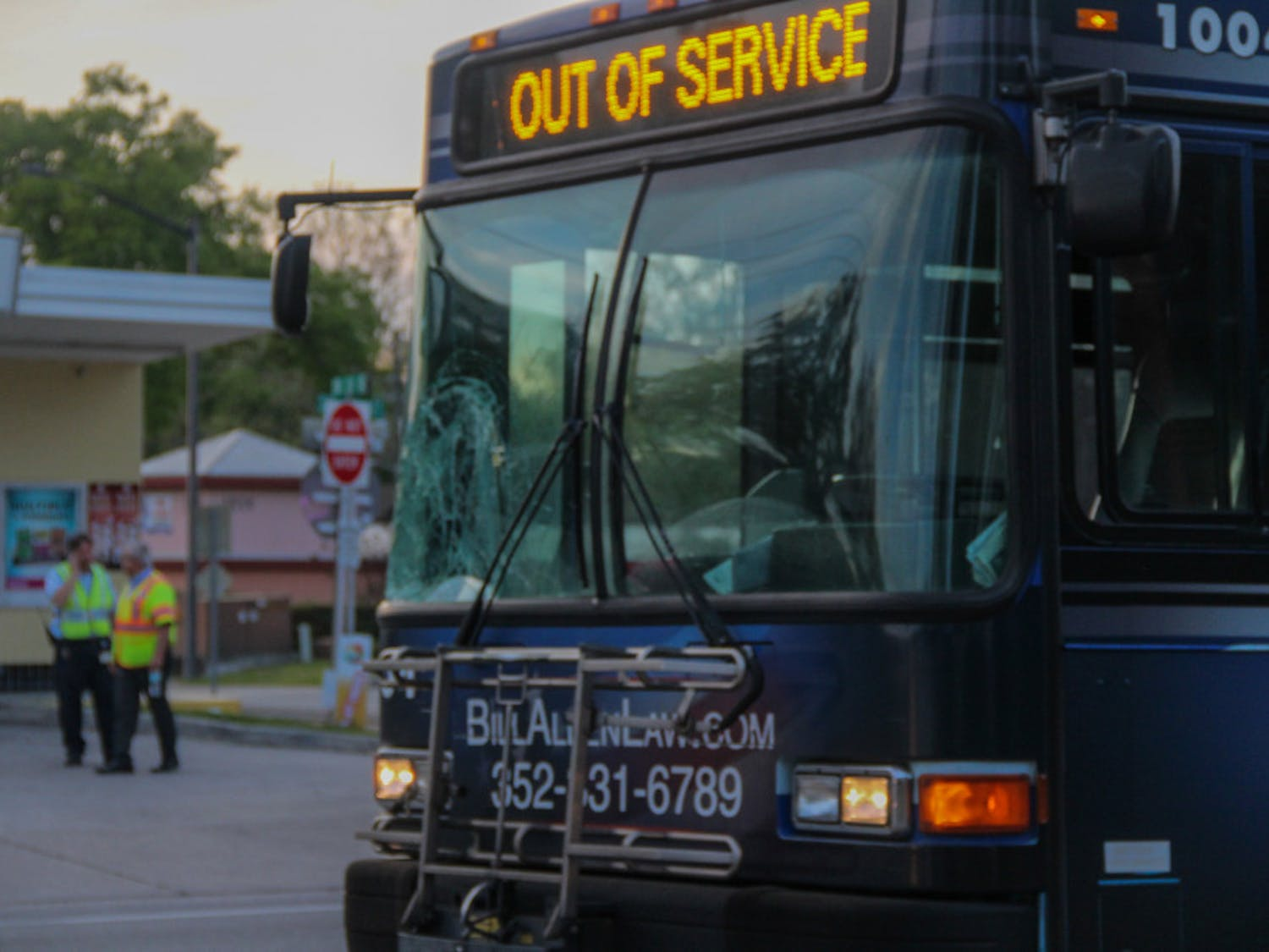 An unidentified man was struck by an RTS bus Tuesday evening and taken to UF Health Shands in critical condition. The bus was unable to avoid the pedestrian who walked into oncoming traffic, according to Rosanna Passaniti, city spokesperson.