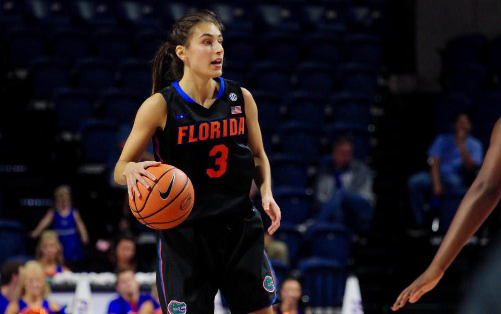 <p>Guard Funda Nakkasoglu scored 22 points in Florida's 60-58 loss to Gardner-Webb. She shot the potential game-winning three with second remaining, but was off the mark.</p>