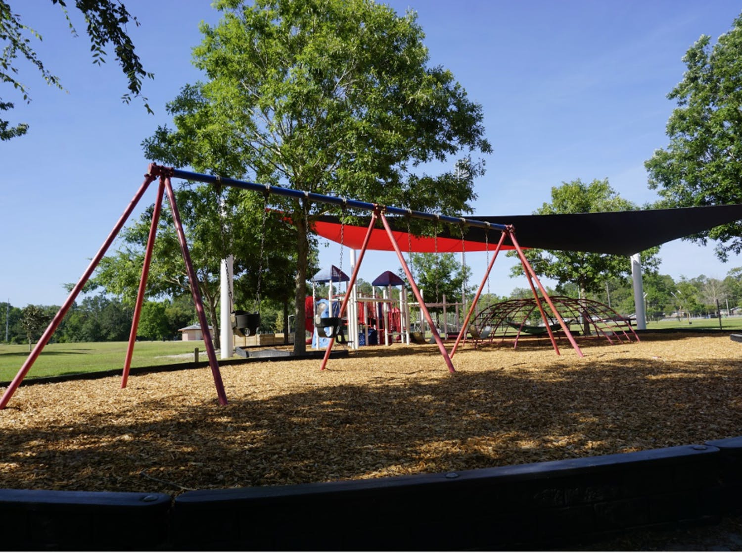 Fred Cone Park's main playground had a shade sail installed in early 2018.