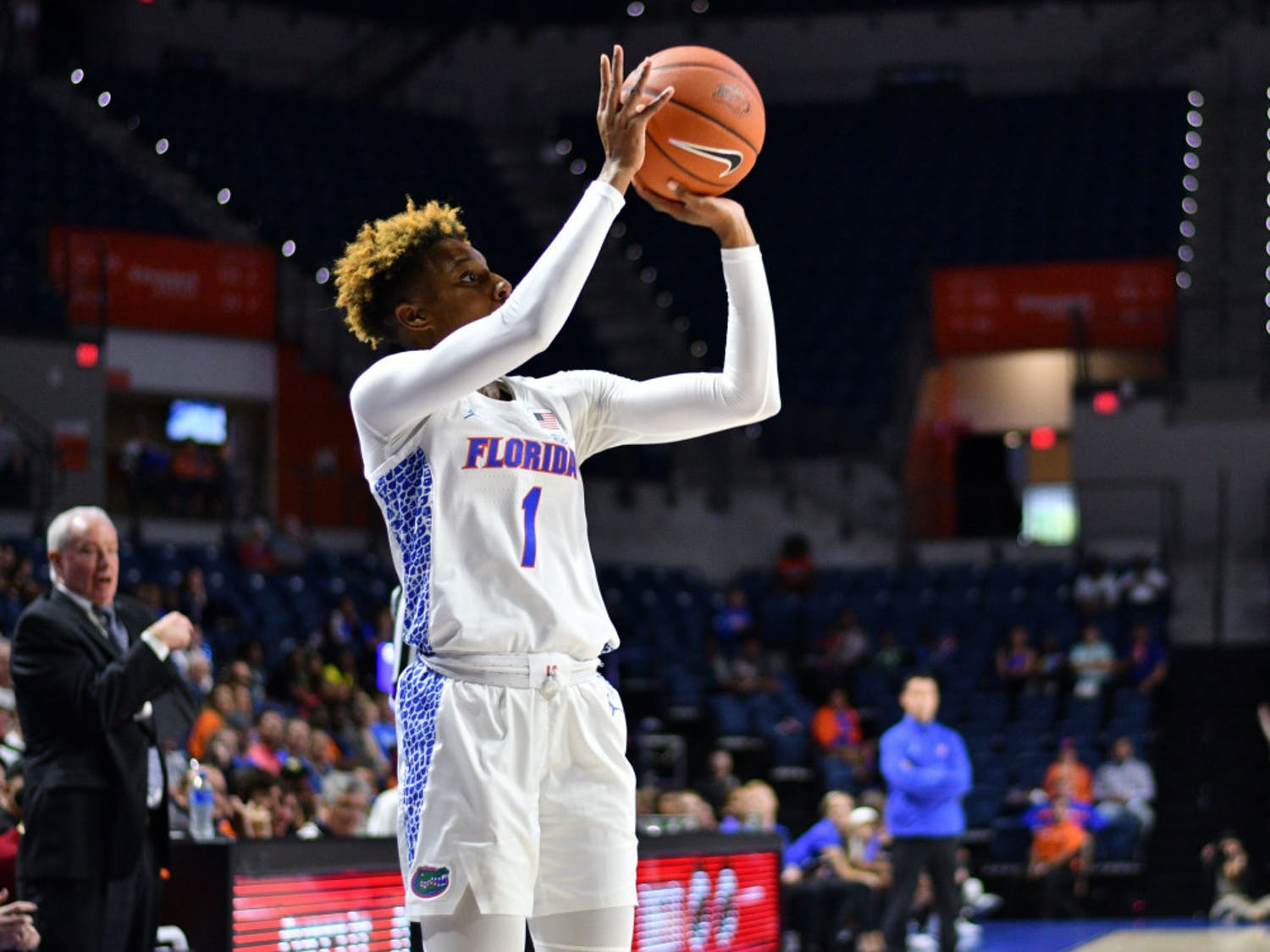 Gators guard Kiara Smith led the team in scoring during UF's 64-56 loss to Auburn on Sunday. She scored 15 points against the Tigers and went 3-of-6 from beyond the arc.