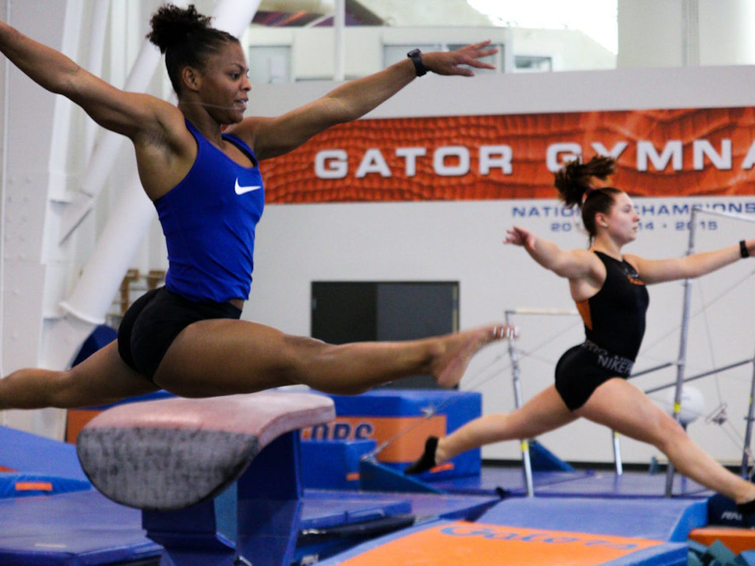 Trinity Thomas scored a perfect 10 on her floor routine, leading Florida to a narrow victory over LSU Friday night