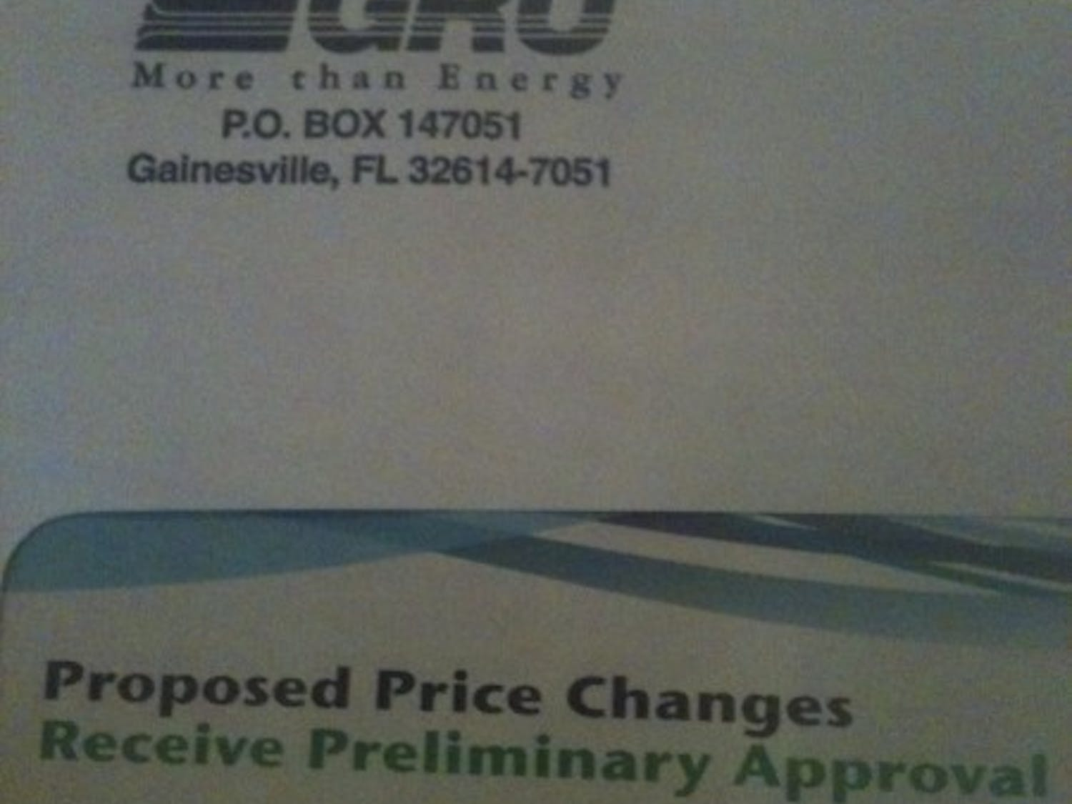 My bill was kind enough to warn me that it may be gaining a few dollars worth of weight.