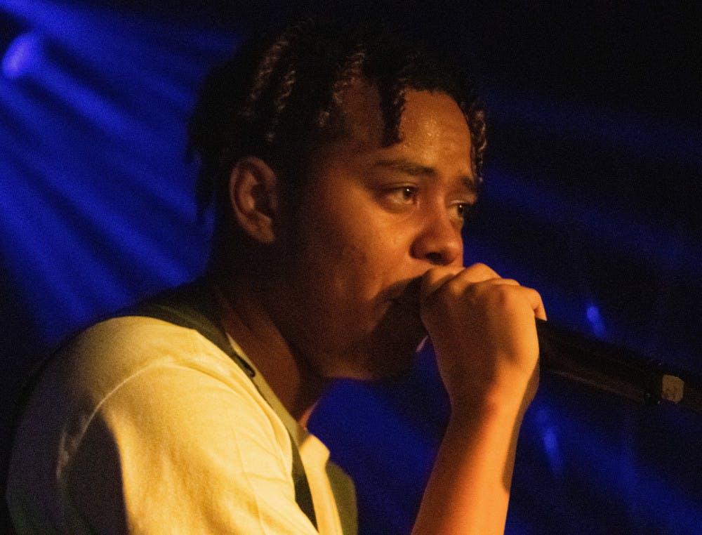 """<p>YBN Cordae raps on Friday night at the High Dive. He opened his set with """"Wintertime.""""</p>"""