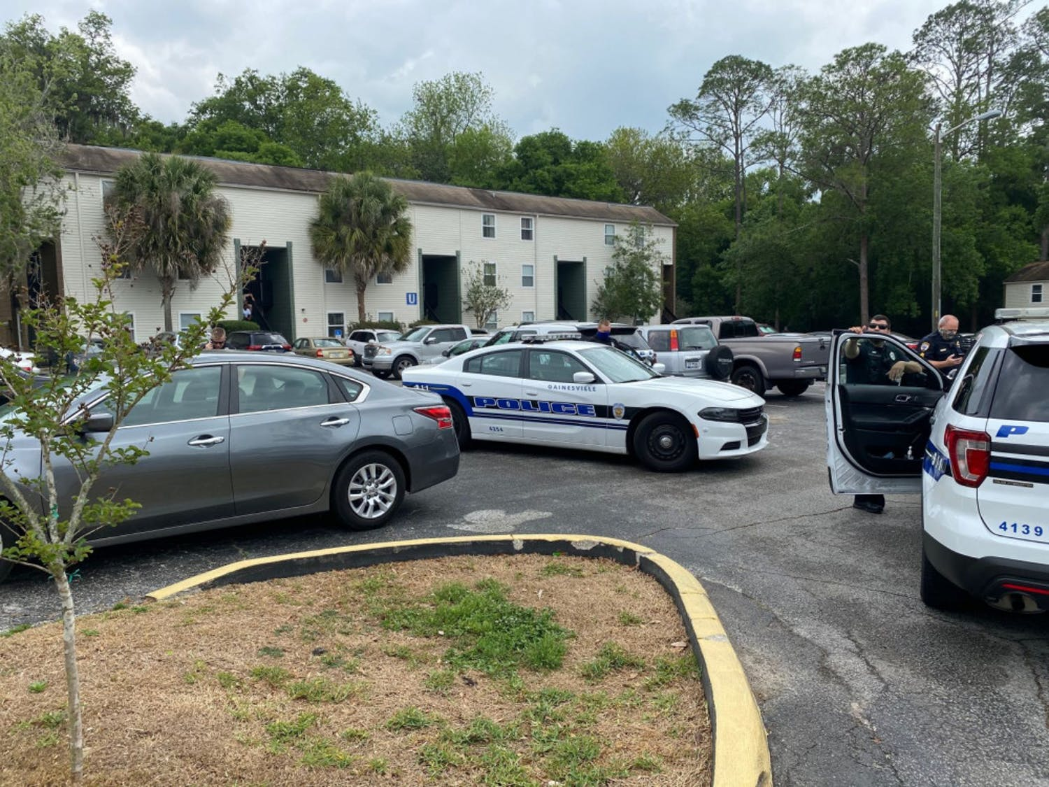 Police were called to the Bivens Cove apartment complex at 12:31 p.m. on Monday.