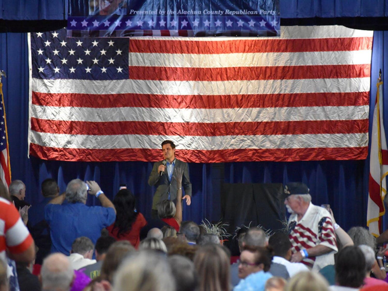 U.S. District 1 Congressman Matt Gaetz at the18th annual Ronald Reagan Black Tie and Blue Jeans BBQ Thursday evening.