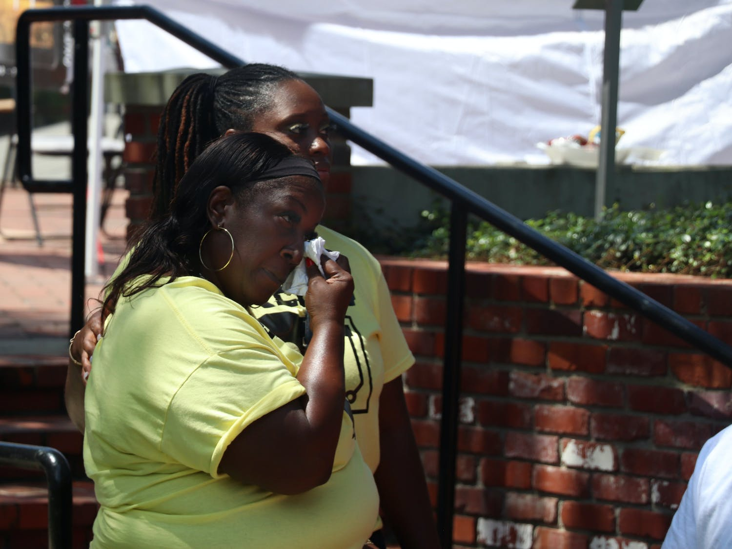 The family and friends of Akeem Thompson, better known as DJ Terrah from 98.9 Jamz, came together at Bo Diddley Plaza on Sept. 4, 2021, to honor his life after he died of COVID-19. Local DJs played music, local pastors prayed, officials designated a day in Thompson's honor and free COVID-19 tests were offered onsite.