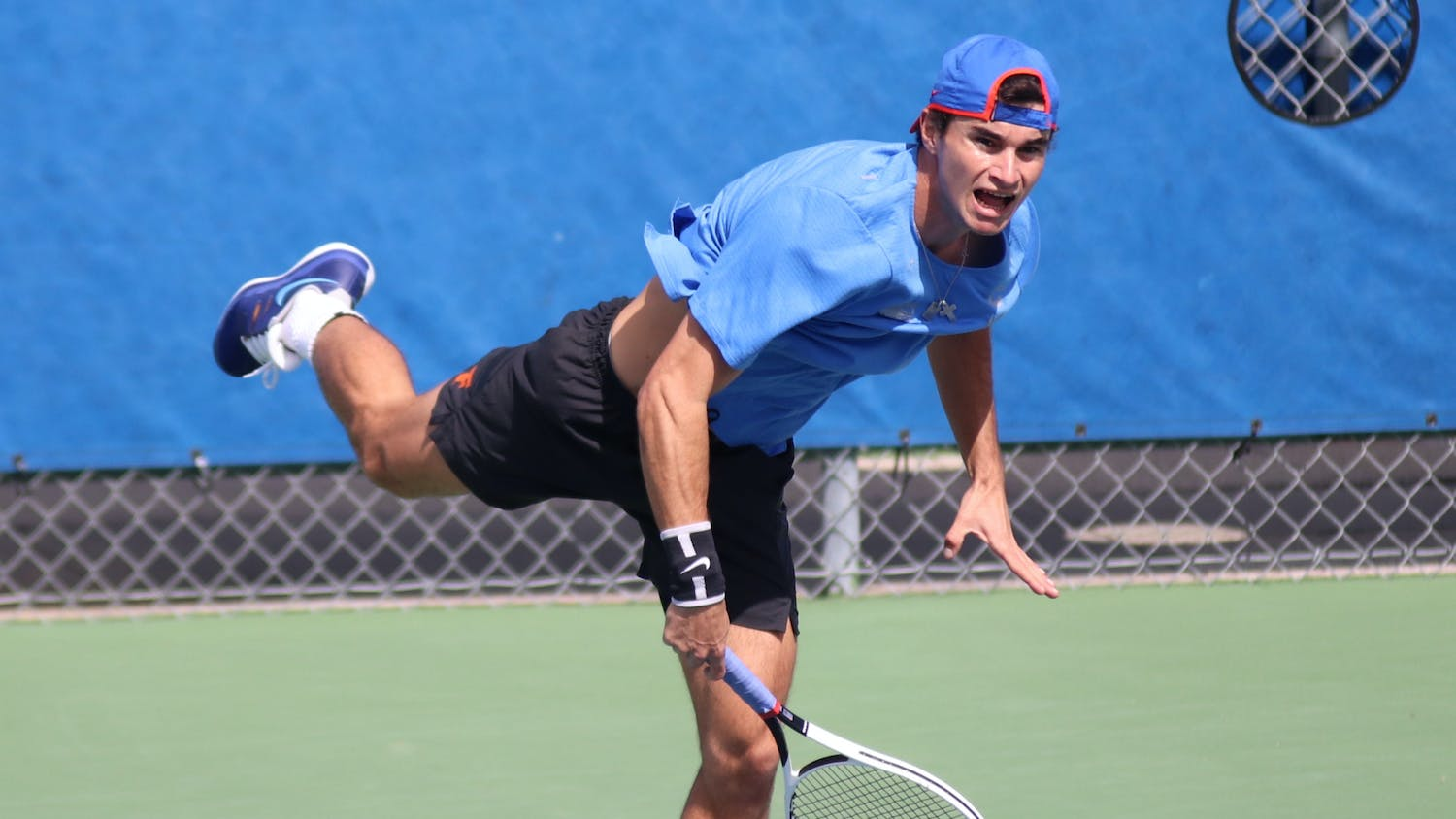 The women's and men's tennis teams defeated Texas A&M Sunday. Photo from UF-Auburn match Feb. 20.