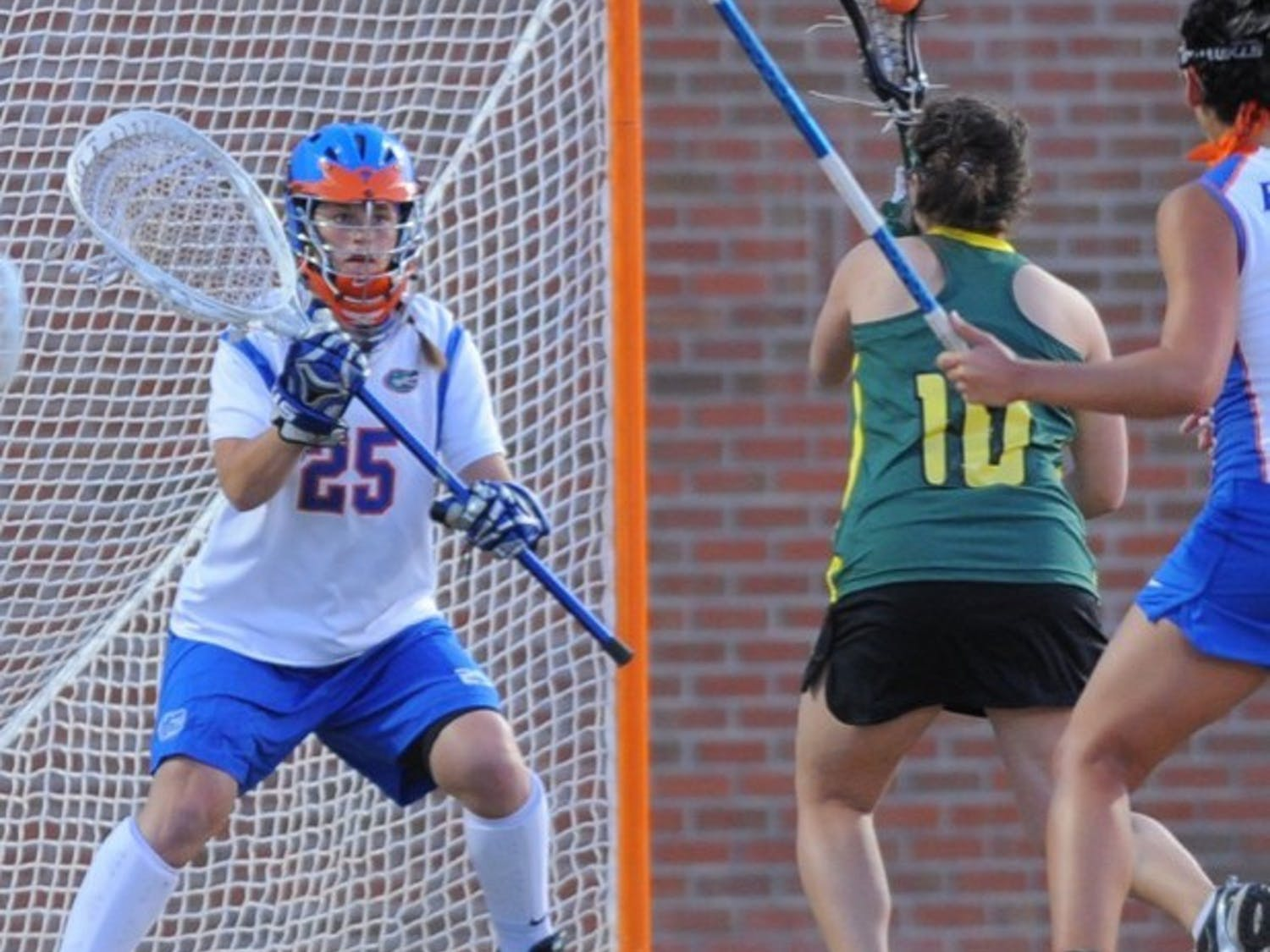 Florida junior goalie Cara Canington (25) is fully healed from last year's finger injury and said she put in extra work in the offseason in an effort to play more this year.