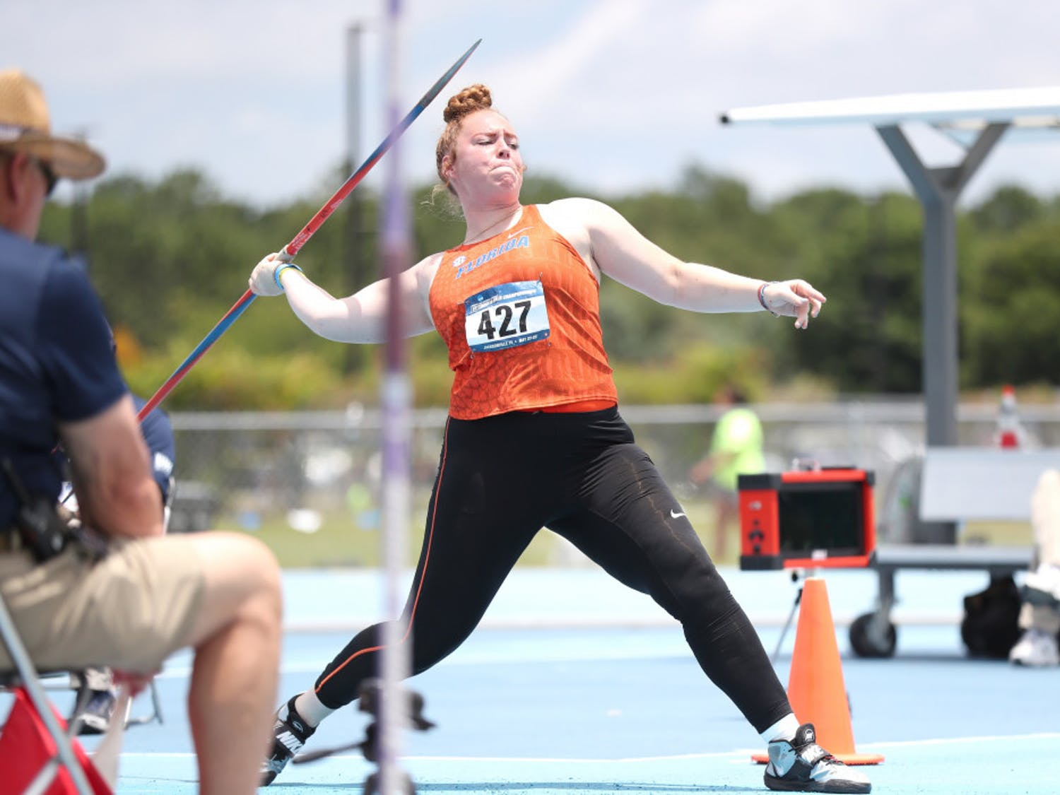 Megan Reed has the seventh best javelin throw in UF history (48.67m).